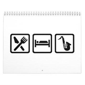 Eat Sleep Saxophone Calendar