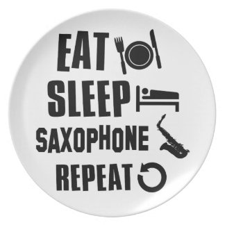 Eat Sleep Saxophone Plate