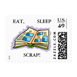 EAT, SLEEP SCRAP Postage Stamps - 20 Stamps