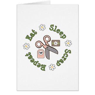 Eat Sleep Scrap Repeat Greeting Card