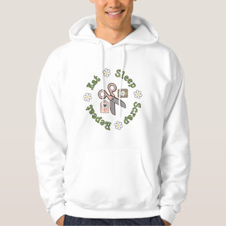 Eat Sleep Scrap Repeat Hooded Sweatshirt