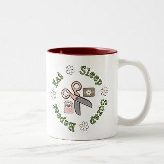 Eat Sleep Scrap Repeat Mug