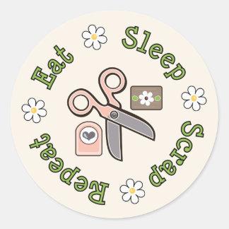 Eat Sleep Scrap Repeat Stickers