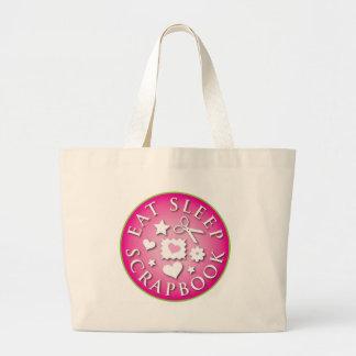 Eat Sleep  Scrapbook Canvas Bags