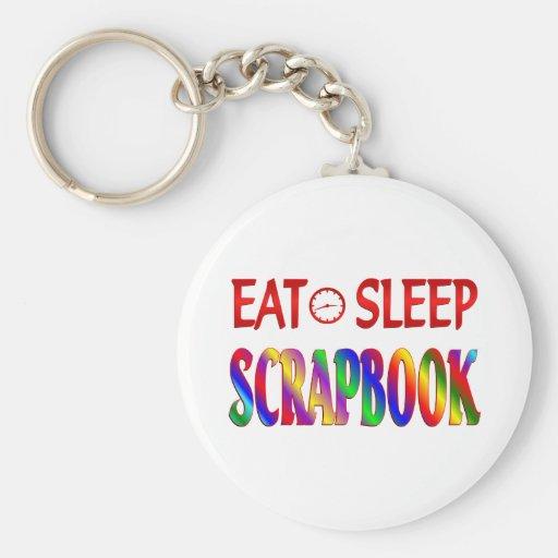 Eat Sleep Scrapbook Keychain