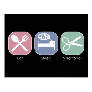 Eat Sleep Scrapbook Postcard