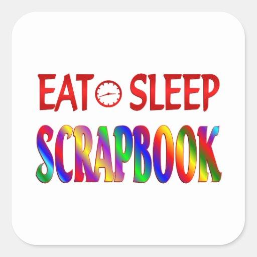 Eat Sleep Scrapbook Stickers