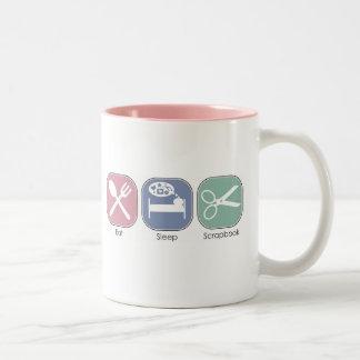 Eat Sleep Scrapbook Two-Tone Coffee Mug