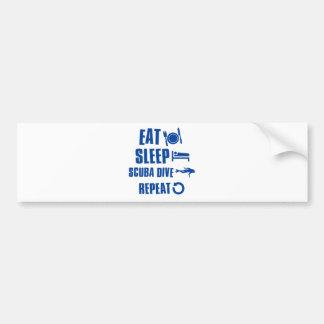 Eat sleep Scuba Dive Bumper Sticker
