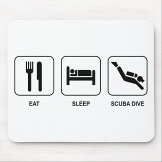 Eat Sleep Scuba Dive Mouse Pad