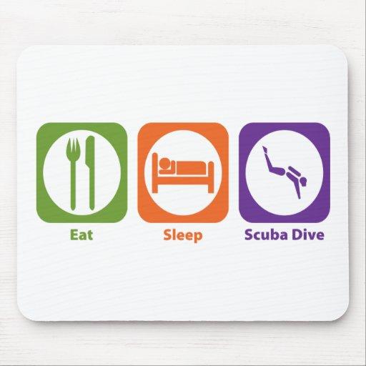Eat Sleep Scuba Dive Mouse Pads