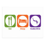Eat Sleep Scuba Dive Postcard