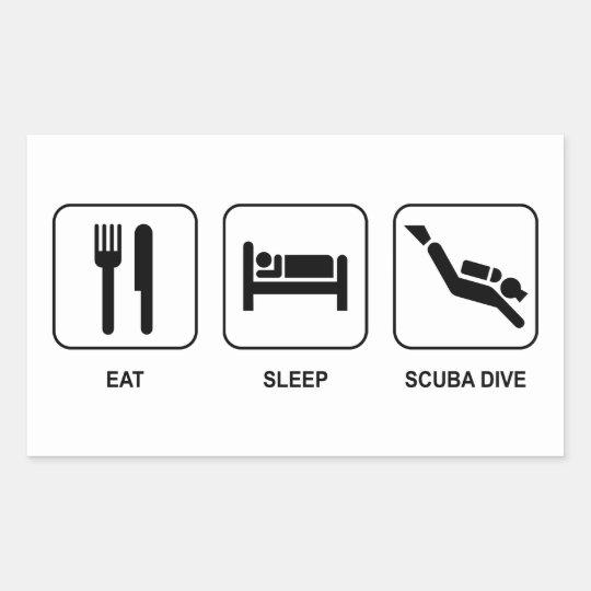 Eat Sleep Scuba Dive Rectangular Sticker
