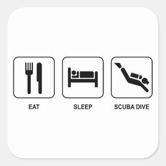 Eat Sleep Scuba Dive Stickers