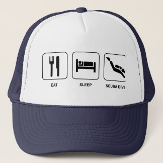 Eat Sleep Scuba Dive Trucker Hat