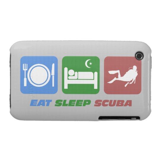 eat sleep scuba iPhone 3 case