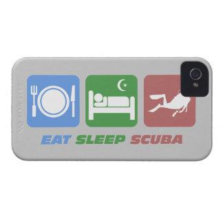eat sleep scuba iPhone 4 case