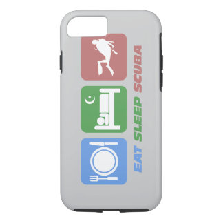 eat sleep scuba iPhone 7 case