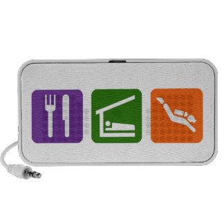 Eat Sleep Scuba iPod Speakers