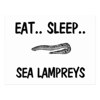 Eat Sleep SEA LAMPREYS Postcard