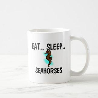 Eat Sleep SEAHORSES Classic White Coffee Mug