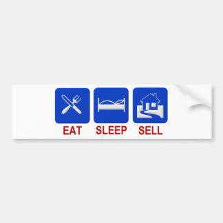 eat sleep sell car bumper sticker
