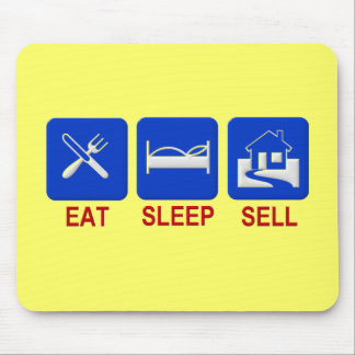 Eat Sleep Sell Clear Mouse Pad