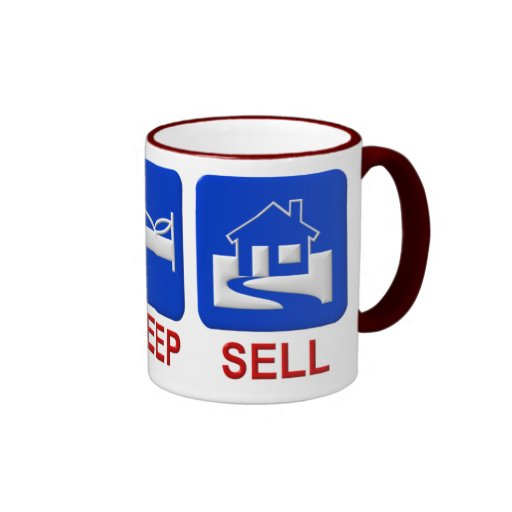 Eat, sleep, sell coffee mugs