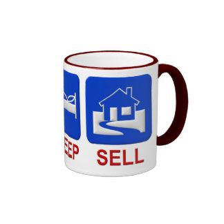 Eat, sleep, sell ringer coffee mug