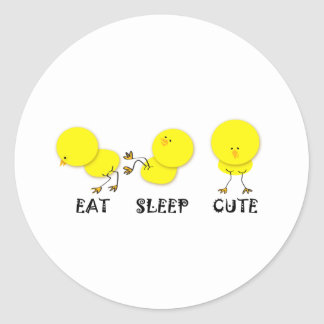 Eat Sleep Series Classic Round Sticker