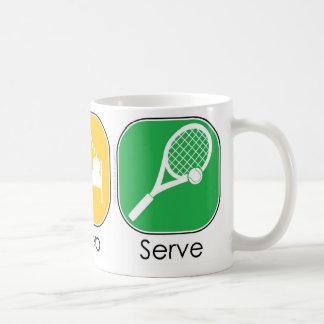 Eat Sleep Serve Classic White Coffee Mug