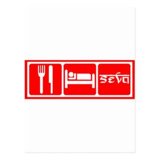 Eat,Sleep,Seva Postcards