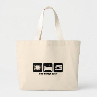Eat sleep sew jumbo tote bag
