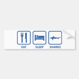 Eat Sleep Sharks Bumper Sticker