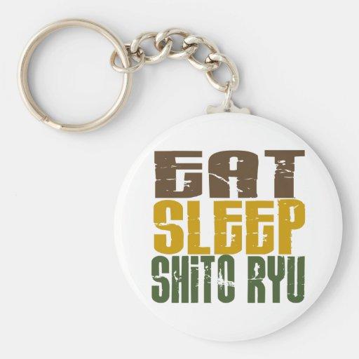 Eat Sleep Shito Ryu 1 Basic Round Button Keychain
