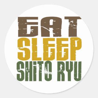 Eat Sleep Shito Ryu 1 Round Stickers