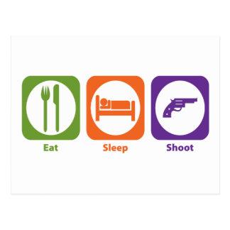 Eat Sleep Shoot Post Card
