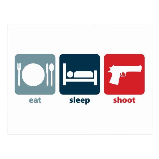 Eat, Sleep, Shoot Postcard