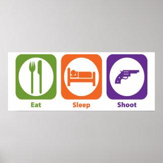 Eat Sleep Shoot Poster