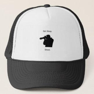 Eat sleep shoot trucker hat