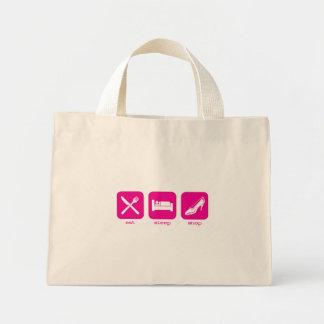 Eat Sleep Shop Mini Tote Bag