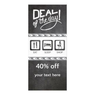 Eat Sleep Shop Chalkboard Rack Card