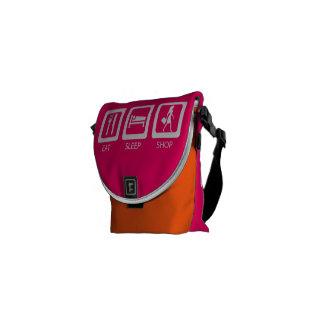 Eat Sleep Shop Messenger Bag