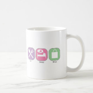 Eat Sleep Shop Classic White Coffee Mug