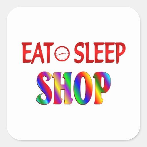 Eat Sleep Shop Stickers