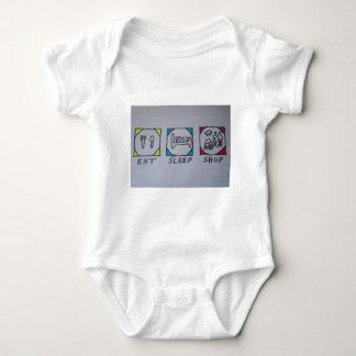 eat,sleep,shopping baby bodysuit