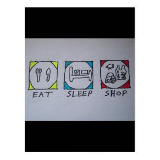 eat,sleep,shopping card