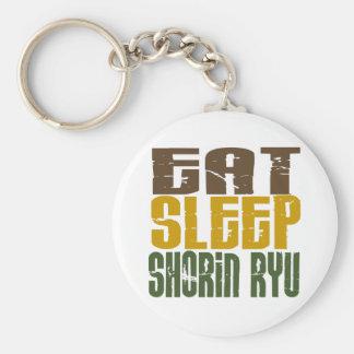 Eat Sleep Shorin Ryu 1 Basic Round Button Keychain