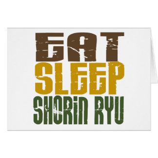 Eat Sleep Shorin Ryu 1 Greeting Card