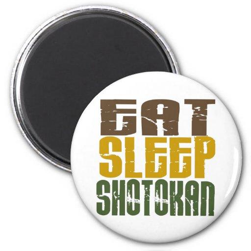 Eat Sleep Shotokan 1 2 Inch Round Magnet